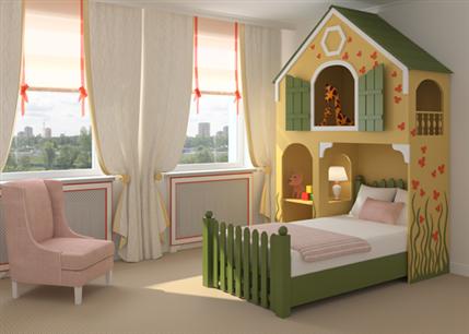 חדרי ילדים מעוצבים מעץ מלא